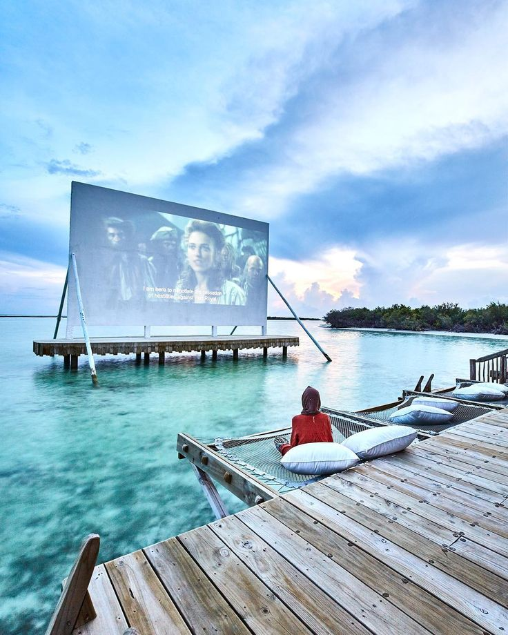 Ocean cinema at Soneva Jani hotel in the Maldives …