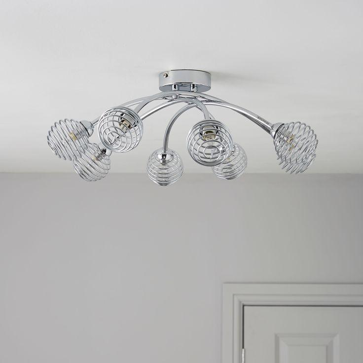 Karli Chrome Effect 8 Lamp Ceiling Light Departments