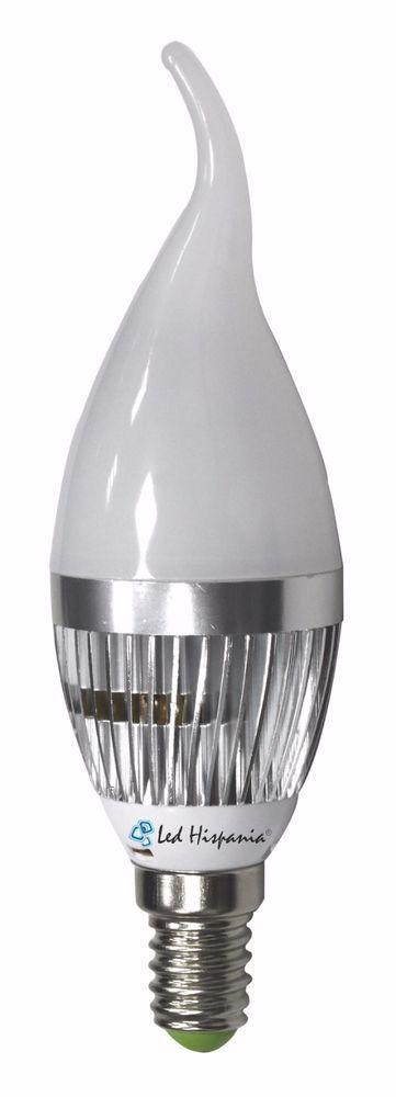 Vela LED 3W E-14 Translúcida Led