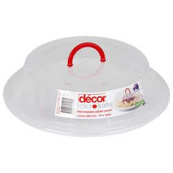 Decor Microsafe Microwave Plate Cover with Handle - awesome idea.