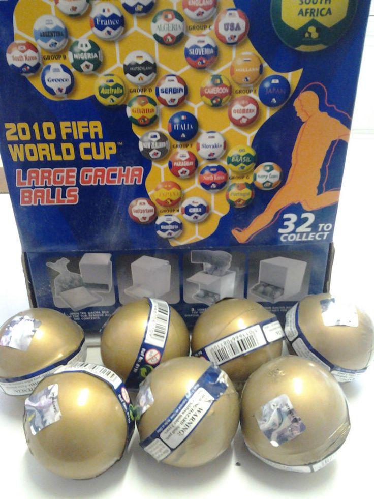 7 x Fifa 2010 World Cup Gacha Balls New & Sealed - Random Selection Surprise  | eBay