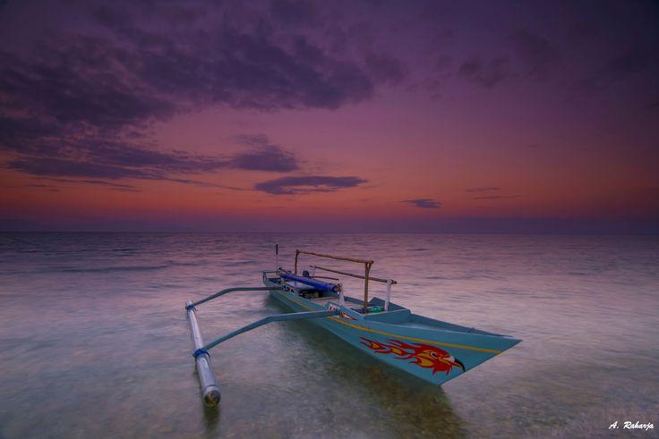Twilight 6 - Sunrise at Labuan Haji Beach, Moyo Island, Sumbawa, West Nusa Tenggara, Indonesia.