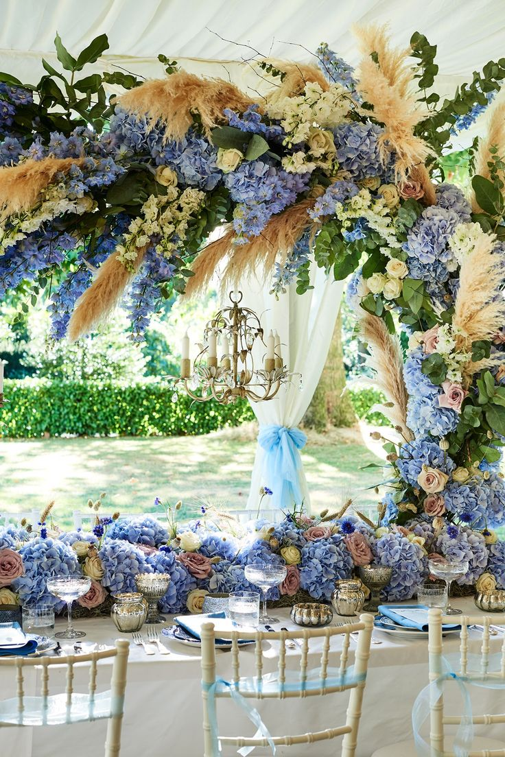 Wedding decoration ideas blue and white   best little things of wedding images on Pinterest  Wedding