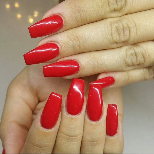 red coffin nails hair & beauty