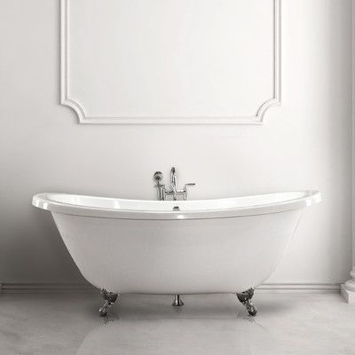 """Hydro Systems Andrea 7238 SS 72"""" Soaking Bathtub Finish: Biscuit"""