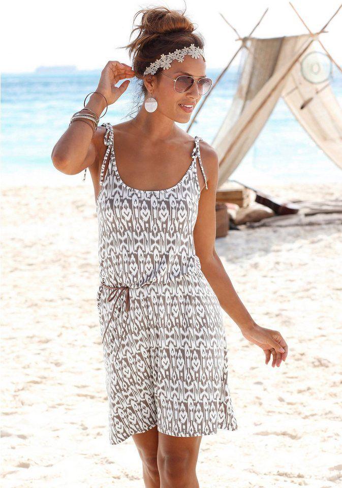 4a2325fe6e208 LASCANA Strandkleid bedruckt oder uni ab 15,50€. Modisches Druckdessin oder  unifarben,