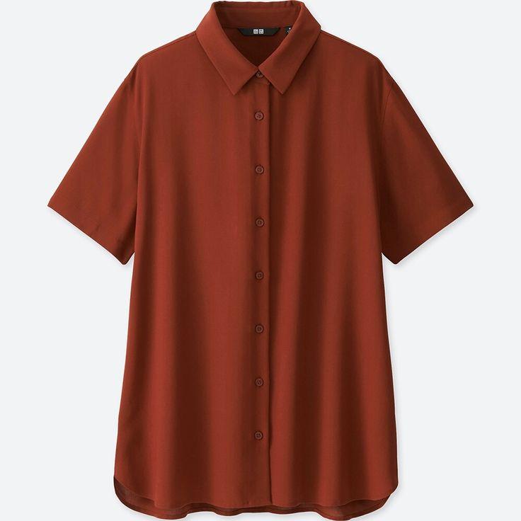 WOMEN Rayon Short Sleeve Blouse