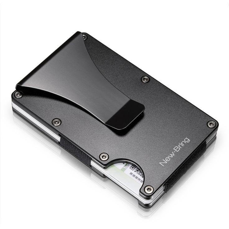 Metal Mini Money Clip Credit Card ID Holder RFID Anti Theft Wallet