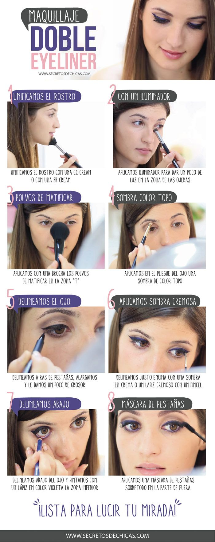 Maquillaje doble eyeliner