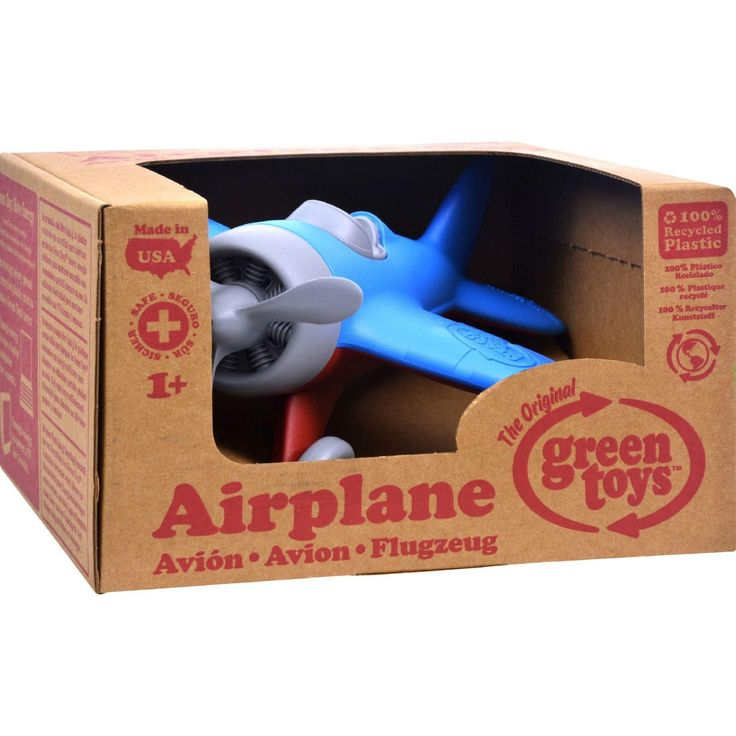 The Green Toys Airplane is one aircraft, Mother Nature is happy to clear for take off. Made in the USA from 100% recycled plastic milk jugs that save energy and reduce greenhouse gas emissions, this s