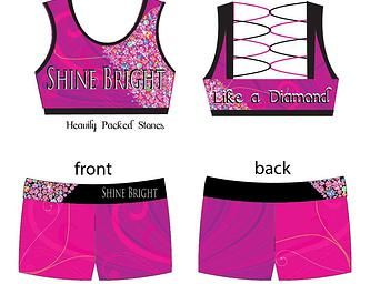 CheerWest, Cheer Merchandise, Perth Cheer, Cheer Shorts, Cheer clothes | PRE-ORDER