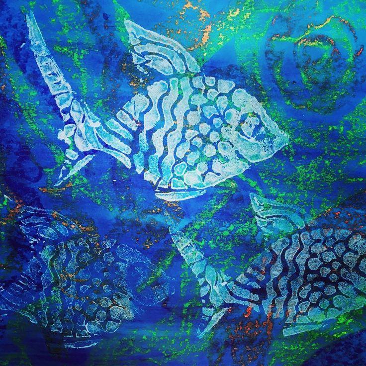 Fish Tales-printmaking Yr 5