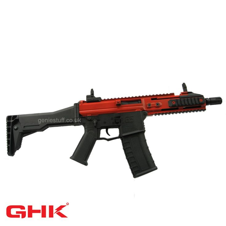 G5 GHK GBB airsoft rifle with part red body