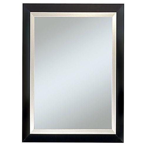 New large black wall mirror rectangle framed art furniture - Large horizontal bathroom mirrors ...