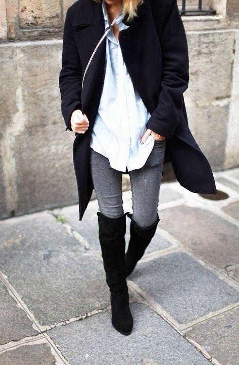 -Una magnifica apuesta son las botas de montar o caña alta en tonalidades de color marrón o negro. Ellas visibilizan las piernas y dan un cierto charme irresistible. Las destaca aún más combinarlas con prendas en la gama del beige, verde inglés, gris melange, bordó y rojo.