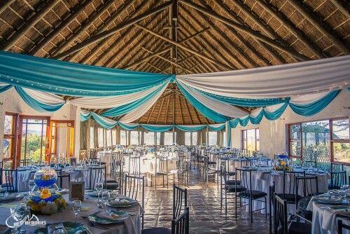 Amanzingwe Game Lodge. Draping done by CS Events