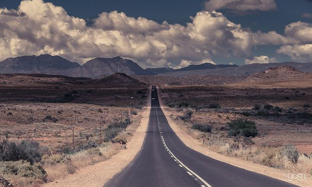 Sigh. My SA. Road through the Karoo. Oudtshoorn - South Africa...