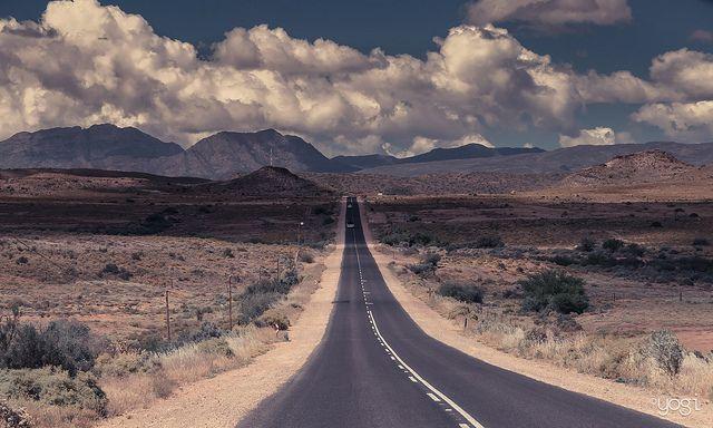 Sigh.  My SA.    Road through the Karoo. Oudtshoorn - South Africa...