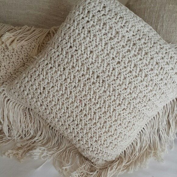 Shop the new Macrame Pillows Luxury natural textures