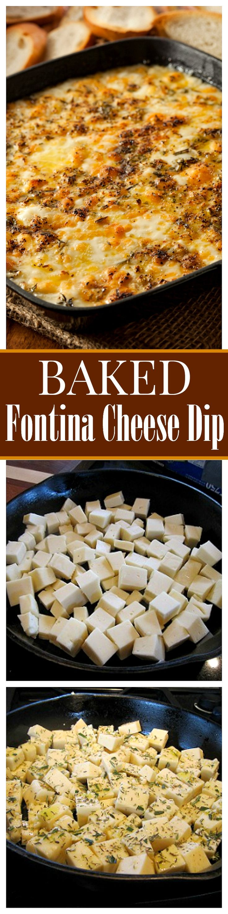 Baked Fontina Cheese Dip - If you like cheese at all, you will LOVE this Fontina Cheese Dip and should try it as soon as possible!