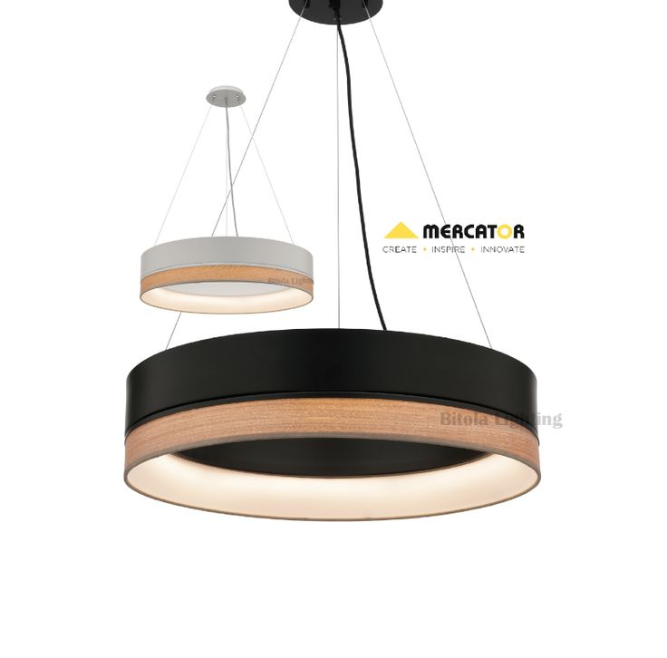 Fitzgerald+24w+LED+Dimmable+Ceiling+Pendant+Light+-+Black+or+White+-+Mercator+ML7224, $599.00
