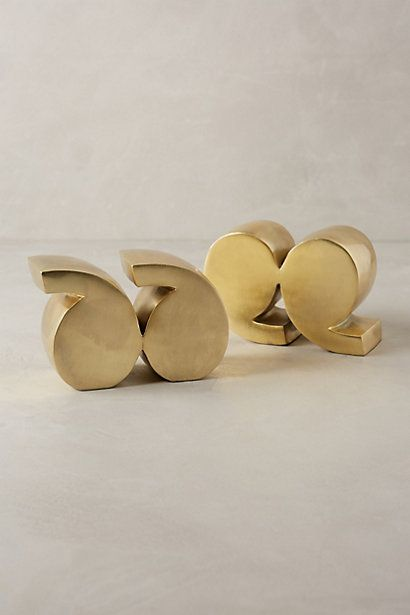 Quotation Marks Bookends - anthropologie.com #anthroregistry