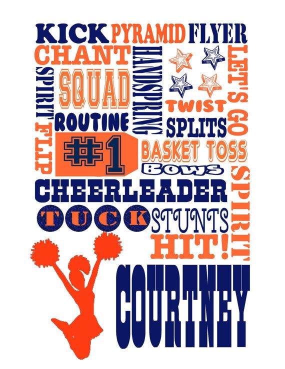 Personalized cheerleading gift / cheer gifts / by JandAprints