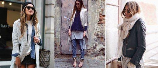Bei den Bloggerinnen sieht es so einfach aus: Skinny Jeans an, Pulli über die Bluse, Schal drauf und Mantel drüber - fertig ist der lässige Lagenlook...