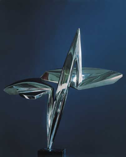Stainless steel sculptures Constantin Lucaci