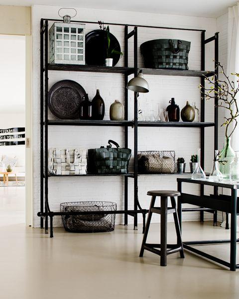 #home #interior #living #storage #shelves