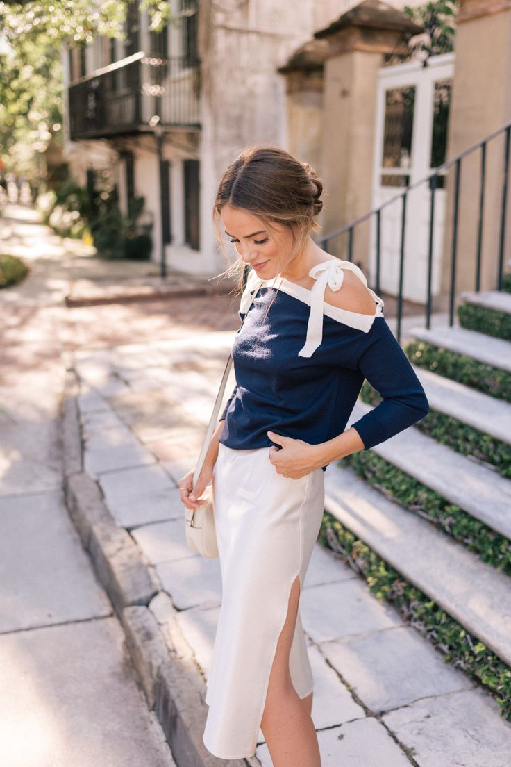 Gal Meets Glam Styling A Slip Skirt - J.Crew sweater, Emerson Thorpe skirt & Gucci bag
