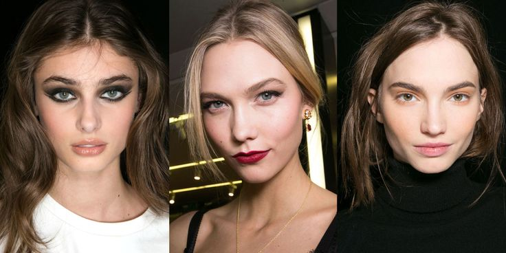 Black liner shows its versatility, red lipstick feels exciting again and flushed skin replaces contouring this fall.