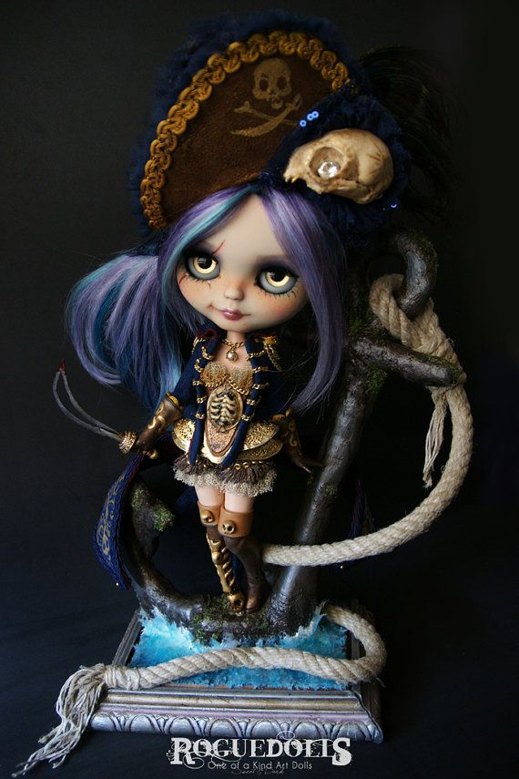 LADY BUCCANEER by Roguedolls. OOAK one of a kind Custom Blythe Doll