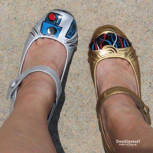 These DIY Star Wars shoes will help you find the droids you're looking for.
