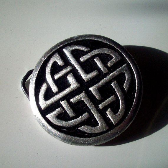 Celtic Belt Buckle in Black Enamelled Pewter by GelertDesign, £21.45
