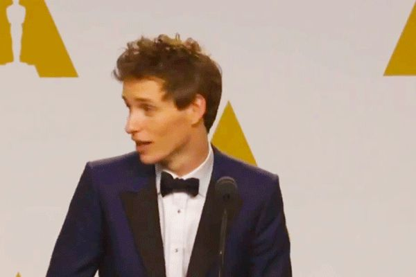 Eddie Redmayne Was Even More Endearingly Goofy Backstage at the Oscars | Vanity Fair