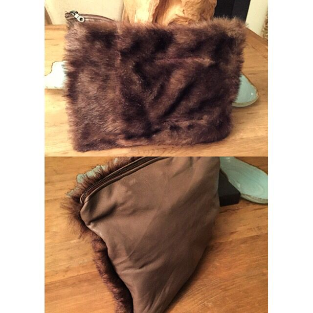 No.19 Leather & Fur Clutch