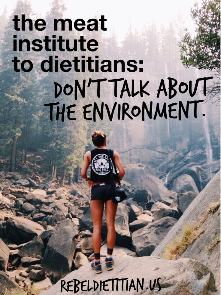 The Meat Institute told dietitians in a congress hearing not to talk about the impacts of food on the environment. Wonder why.. http://www.npr.org/blogs/thesalt/2014/12/15/370427441/congress-to-nutritionists-dont-talk-about-the-environment