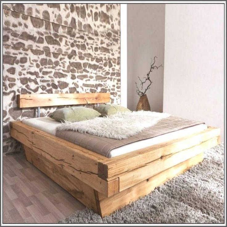Bett Selberbauen Paletten Kopfteil Dekoration Holz Ideen Atemberaubend Massivholz Bett Bett Selber Bauen Holzbett Selber Bauen Holzbalken Bett