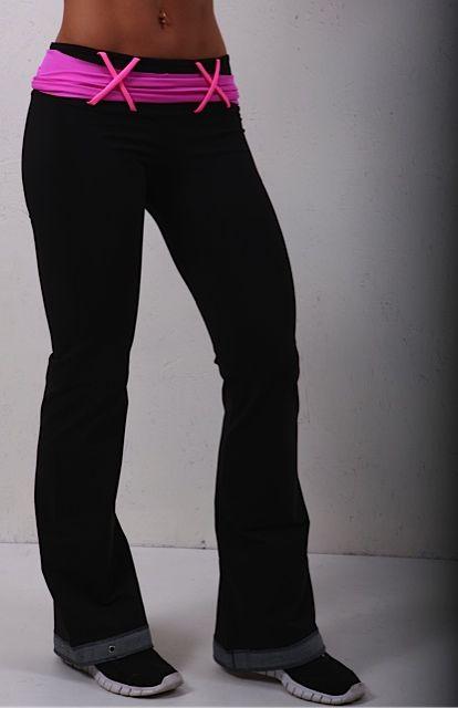 Body Angel Aura Pant - Black Neon-Pink on Sale @ www.downdogboutique.com #YogaClothes #YogaPants #Yoga