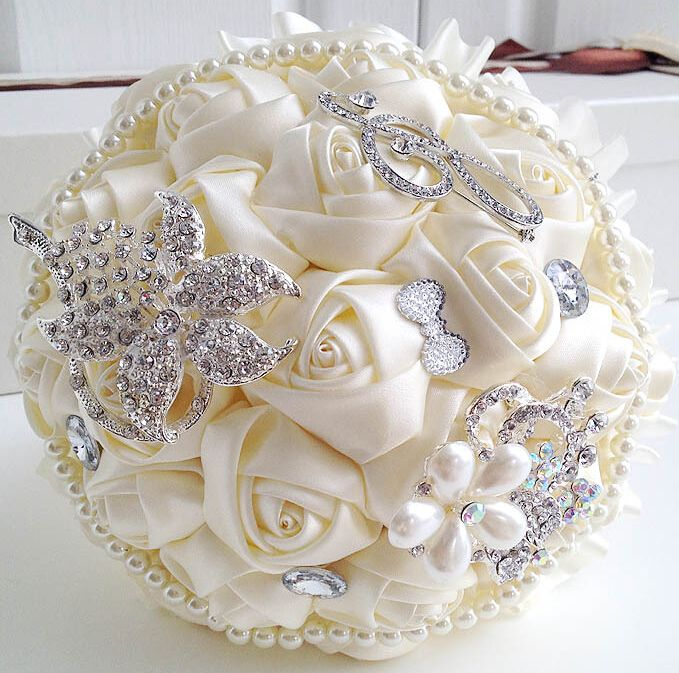 bouquets de noiva pérola elegante dama de honra de casamento bouquet