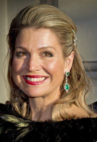 Queen Máxima looked absolutely stunning.