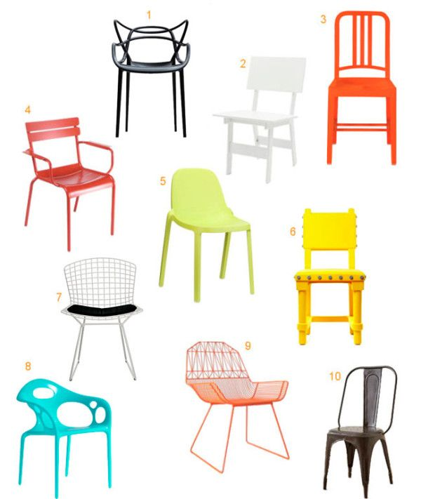 10 Colorful, Modern Outdoor Dining Chairs