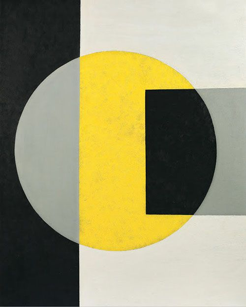 Charles Green Shaw - Black into yellow, 1970 via Mid-centuria