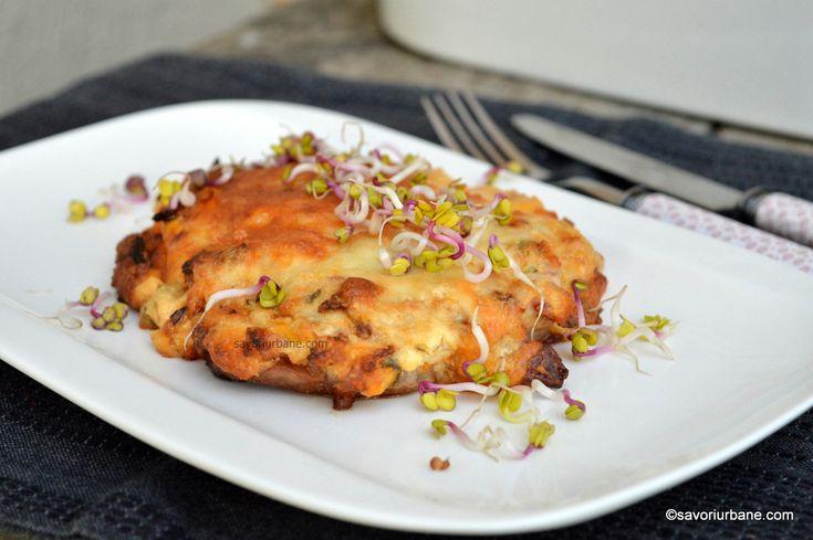 Snitel de porc la cuptor gratinat cu cascaval reteta alsaciana savori urbane