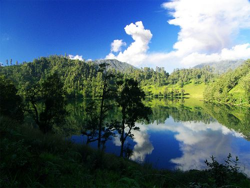 Ranu Kumbolo at Mount Semeru, Indonesia