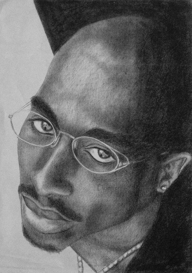 how to draw tupac with a pencil