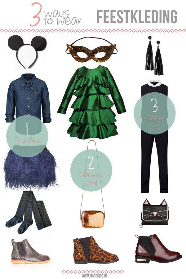 3 ways to wear... party outfits. #girls  #doctorfashion #moodkids http://www.moodkids.nl/trend/fashion-trend/2015/11/30/feestkleding-voor-meisjes