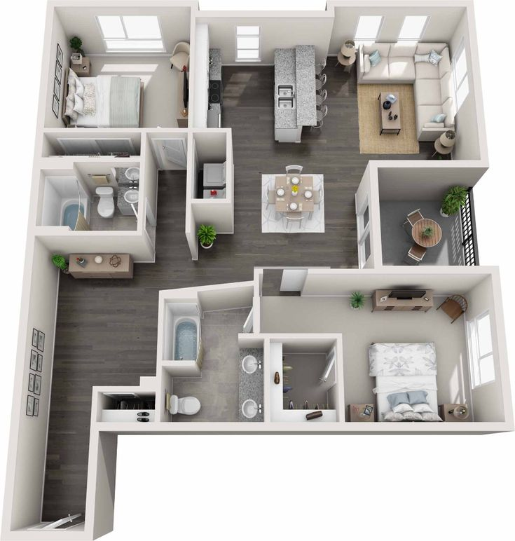 Gardens At Cherry Creek Luxury Pet Friendly Apartments In Denver Co In 2021 House Layout Plans House Floor Design Sims House