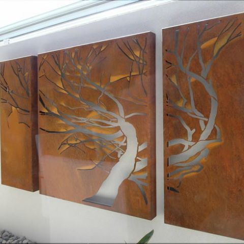 Equisetti - Metal Laser Cut Screens - Outdoor Screens & Wall Features - Watergarden Warehouse